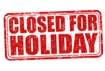 Closed for holiday stamp