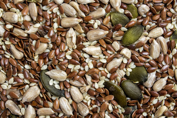 Seeds mixture background