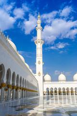 Fotobehang Dubai Sheikh Zayed White Mosque
