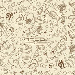Wedding line art design vector illustration