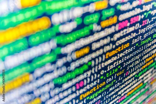 Developer working on software codes in office  Programmer