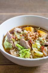 boiled duck noodle