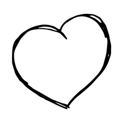 Vector hand drawn heart Isolated,doodle illustration