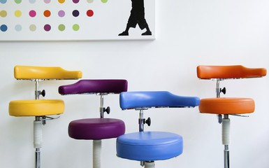 Group of dental stools in clinic