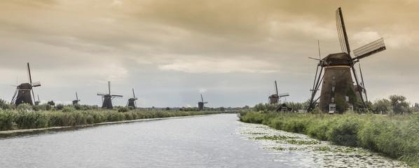 Windmills and canal, Kinderdijk, Olanda, Amsterdam