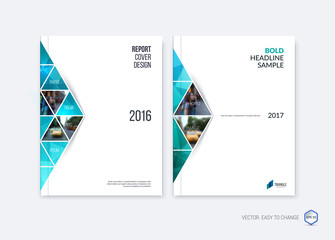 Abstract cover design, business brochure template layout, report