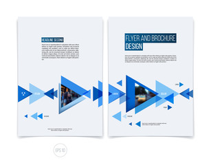 Vector abstract brochure flyer design, business cover template l