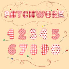 Imitation patchwork. Arabic numerals.