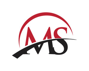 MS red letter logo swoosh