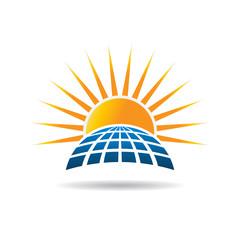 Solar energy photovoltaic panel. Vector graphic design