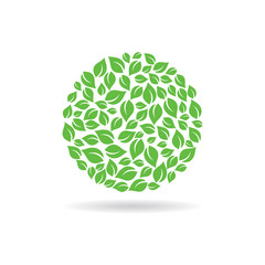 Circle of leaves. Vector design graphic illustration