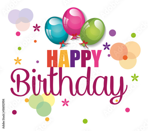"""happy birthday design "" Stock image and royalty-free"