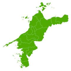 愛媛 地図 緑 アイコン