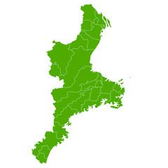 三重 地図 緑 アイコン