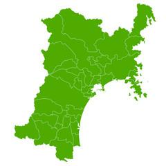 宮城 地図 緑 アイコン