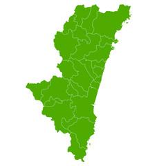 宮崎 地図 緑 アイコン