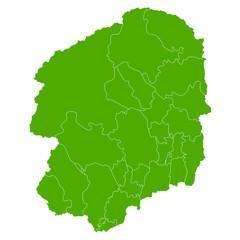 栃木 地図 緑 アイコン