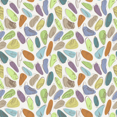 Vector seamless pattern of variety men shoes.