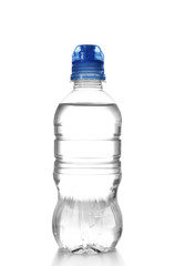 Bottled water on the white background, close up
