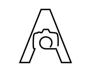 Letter A Camera Logo