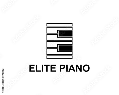 letter e piano logo stock image and royalty free vector files on
