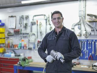 Portrait of engineer in engineering factory