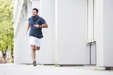 Jogger running