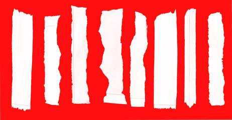 paper on red background
