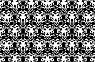 Black and white ornament. h