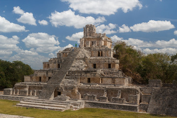 Ruins of the ancient Mayan city of Edzna, Mexico