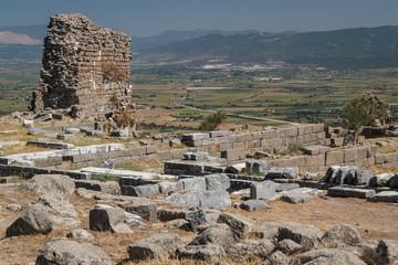 Ruins of the ancient city of Pergamon, Turkey