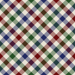 plaid material green red blue seamless pattern