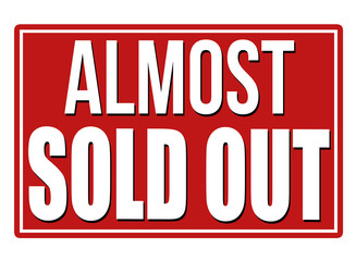 Almost sold out design template