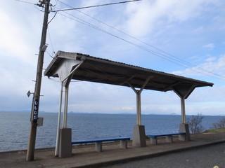 海の見える駅