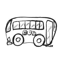Bus doodle, icon illustration