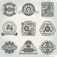logos with gears