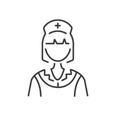 line icon nurse icon, old clothe style