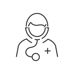 line icon Avatar Doctor Icon