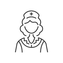 line icon design nurse icon, old clothe style