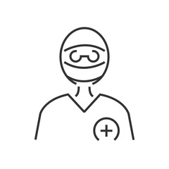 line icon Surgeon Doctor Icon, avatar
