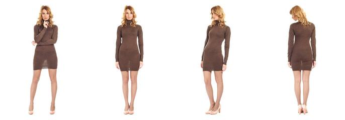 Full length portrait of beautiful woman in dress