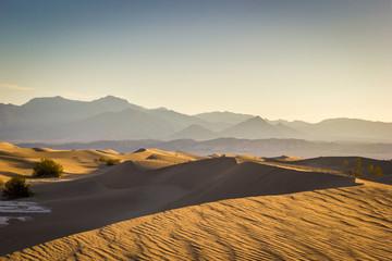 Death Valley National Park, Mesquite Flat Sand Dunes at sunrise, California, USA