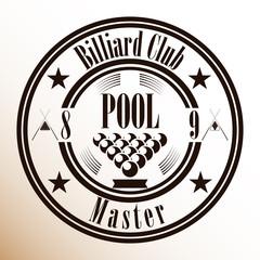 Логотип для бильярдного клуба. Вывеска, этикетка.