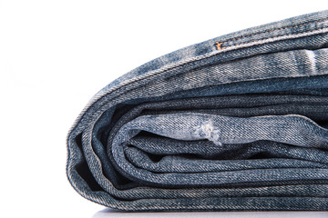 Old short jean isolated