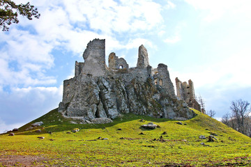 Ruins of castle Hrusov
