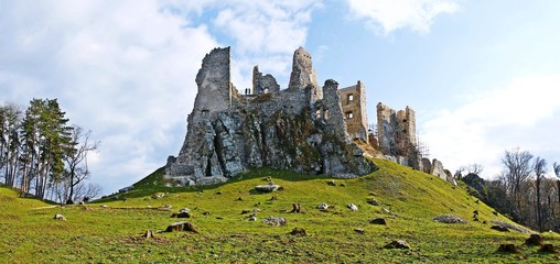 Photo sur Aluminium Ruine Ruins of Castle Hrušov