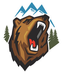 vector Angry Bear