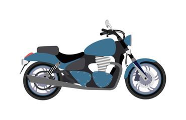 Sport bike silhouette transport power vector illustration.
