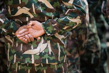 Soldier hand