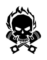 Winged black skull mask in helmet wings of fire vector.